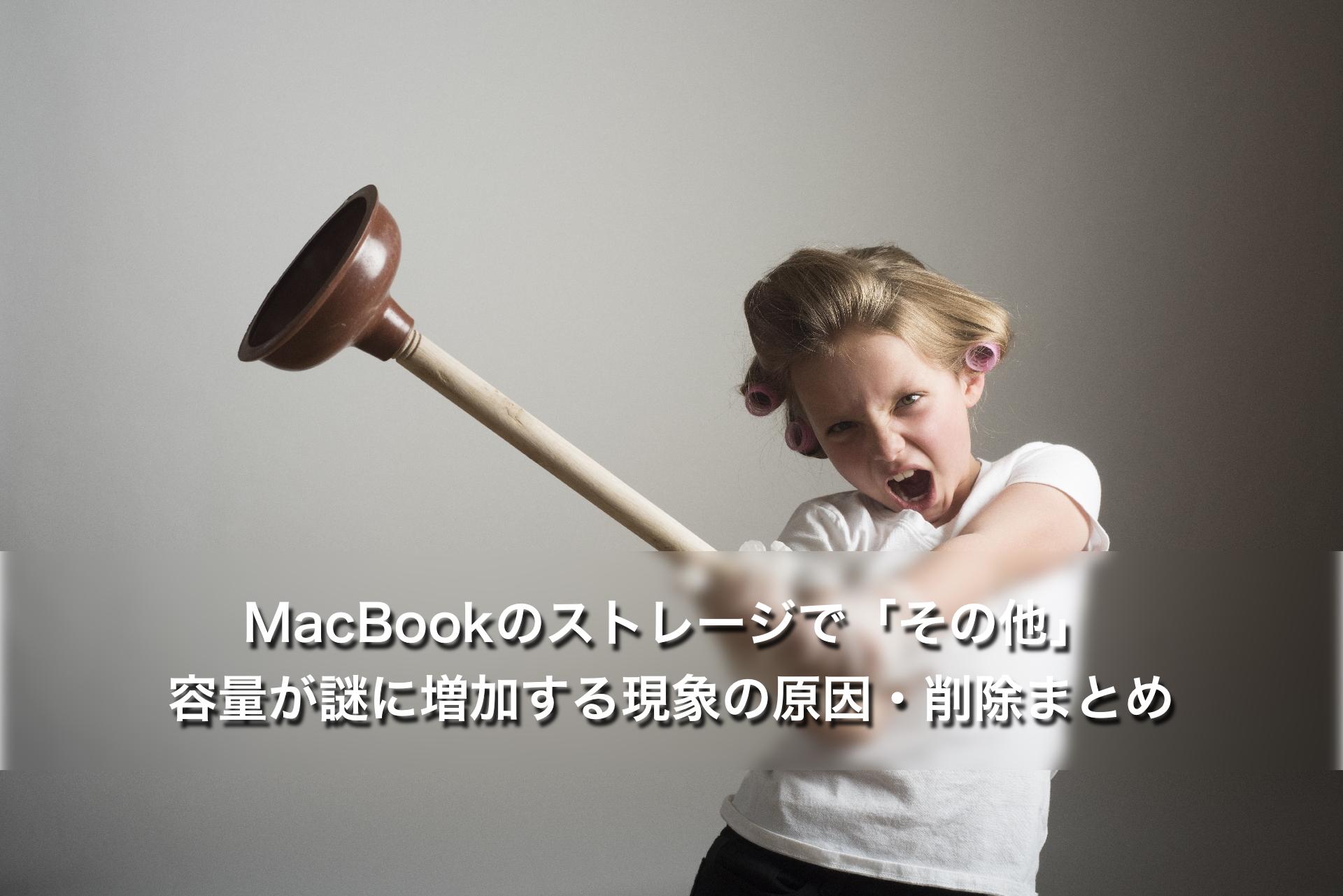 MacBookのストレージで「その他」容量が謎に増加する現象の原因・削除まとめ