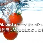 Wikipediaデータをxml2sqlを利用しMySQLにぶっこむ